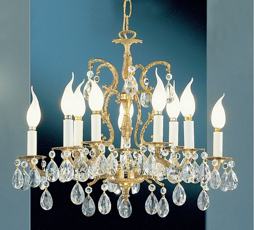 "Classic Lighting 5210-OWB 18"" Crystal Cast Brass Chandelier from the"