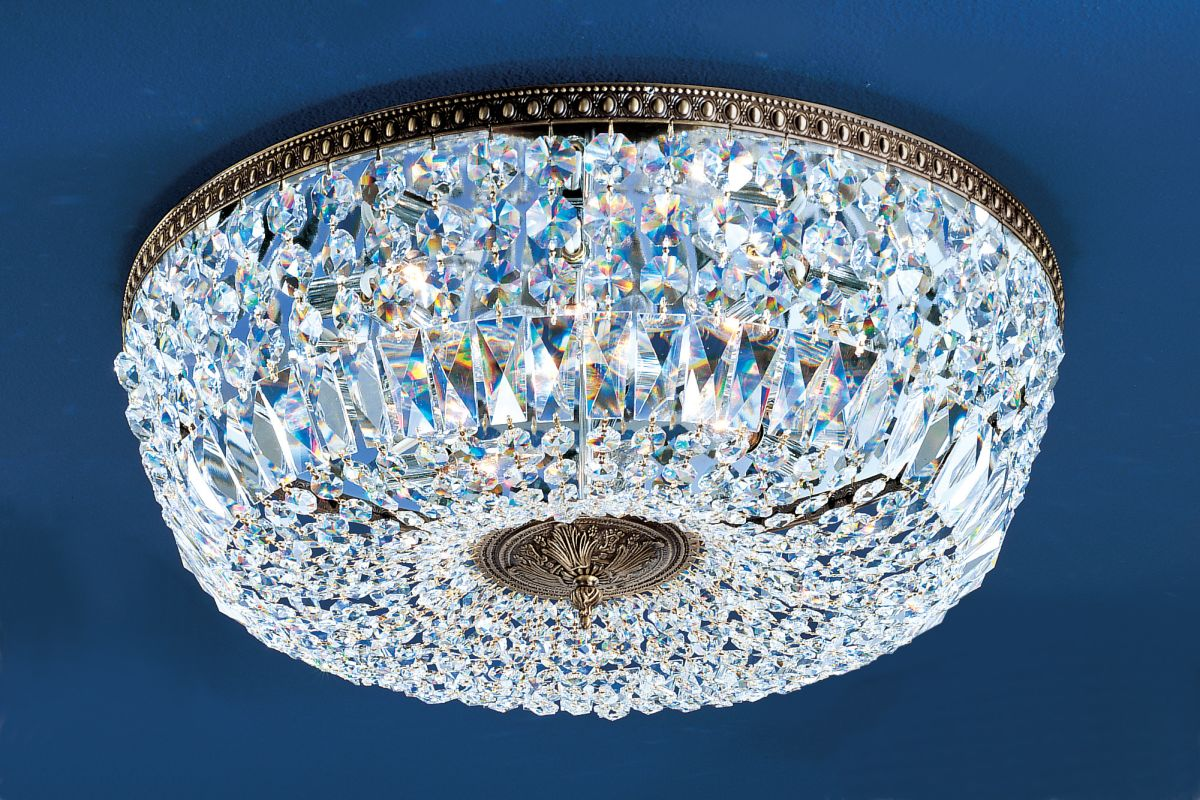 "Classic Lighting 52824-RB 9"" Crystal Flushmount from the Crystal"