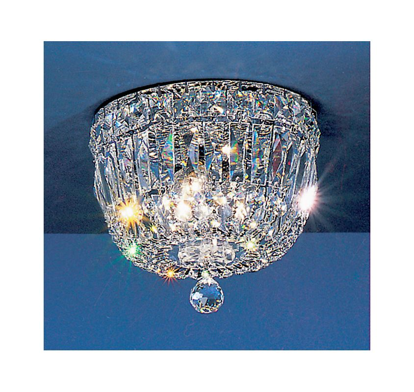 "Classic Lighting 53308-CH 6"" Crystal Flushmount from the Empress"