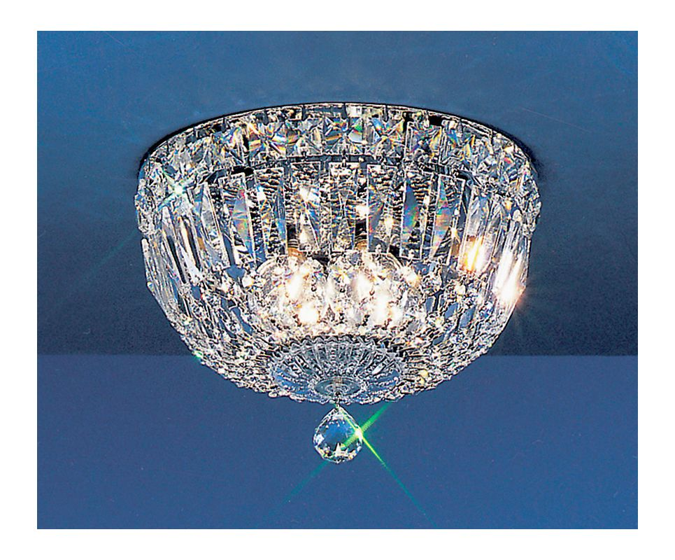 "Classic Lighting 53310-CH 7"" Crystal Flushmount from the Empress"