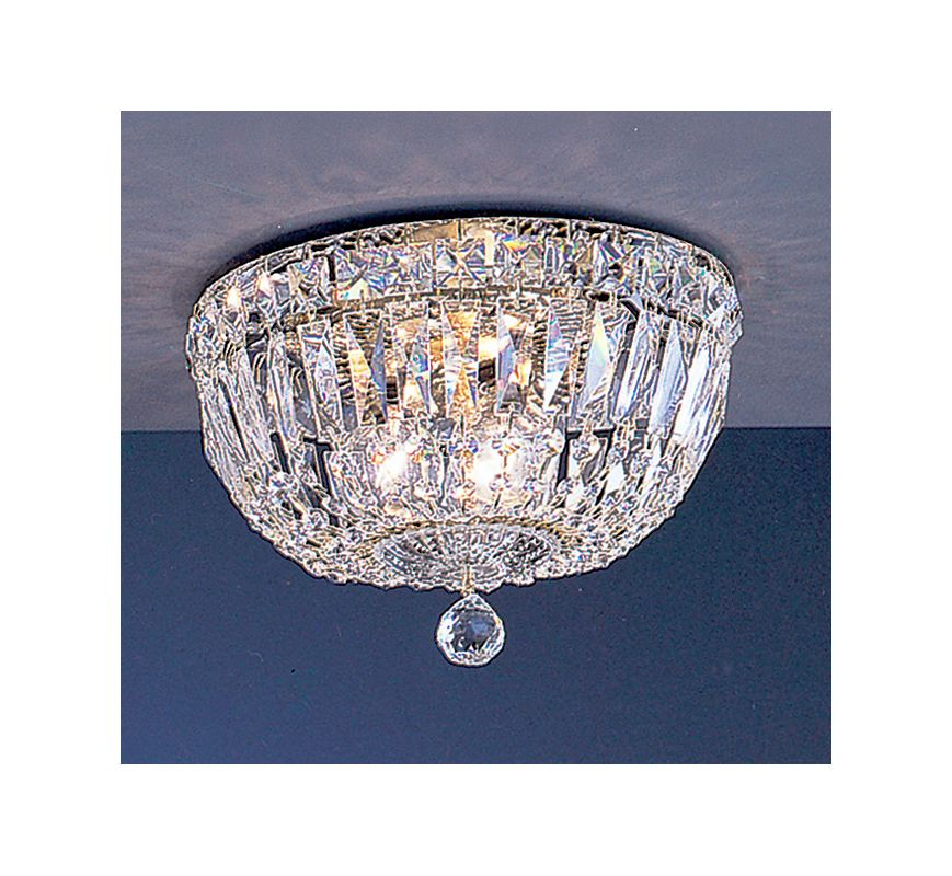"Classic Lighting 53410-G 7"" Crystal Flushmount from the Empress"