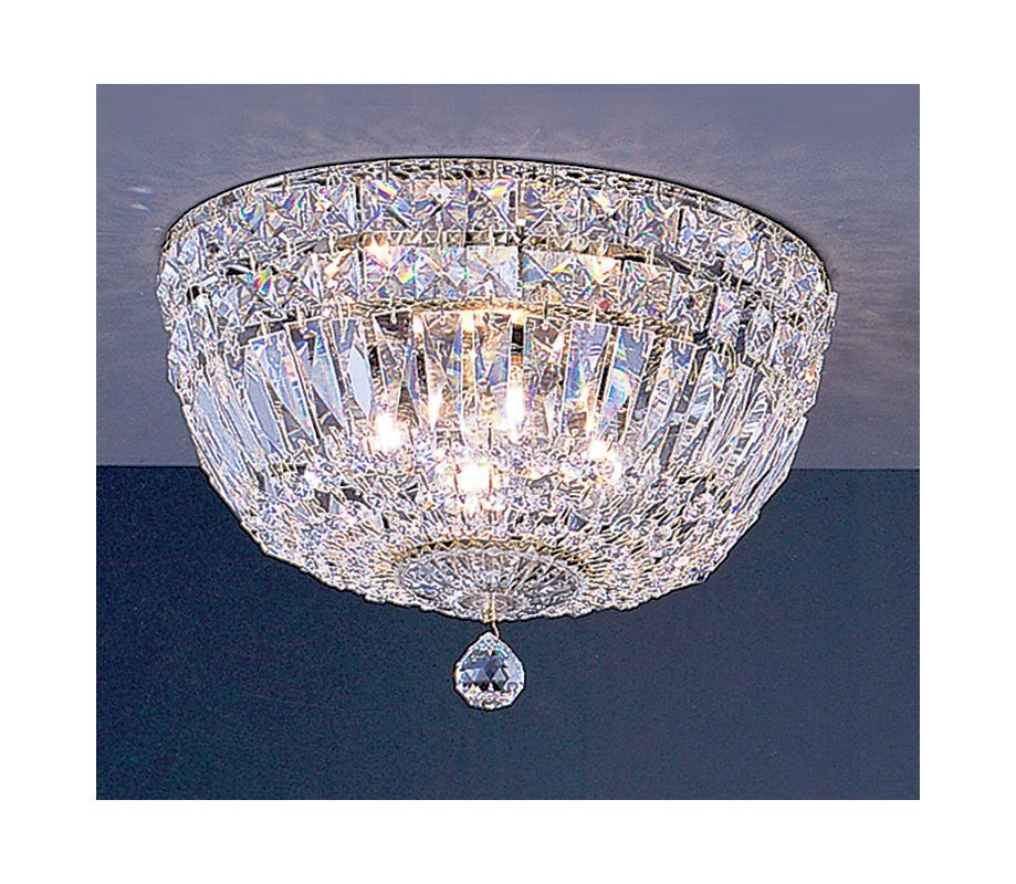 "Classic Lighting 53412-G 7"" Crystal Flushmount from the Empress"