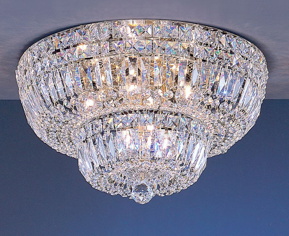 """Classic Lighting 53418-G 10"""" Crystal Flushmount from the Empress"""