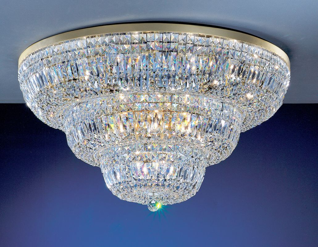 "Classic Lighting 53436-G 20"" Crystal Flushmount from the Empress"