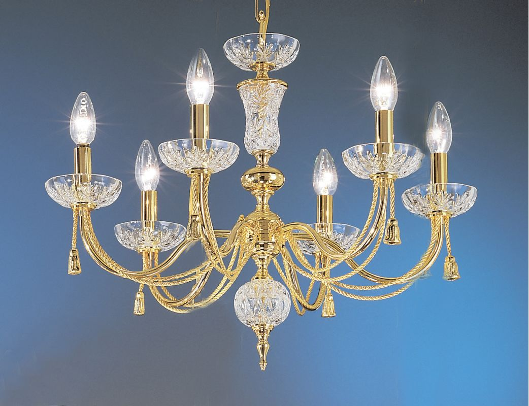 """Classic Lighting 5486 19"""" Traditional Chandelier from the Weatherford"""