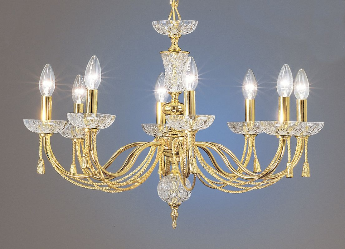 """Classic Lighting 5488 19"""" Traditional Chandelier from the Weatherford"""