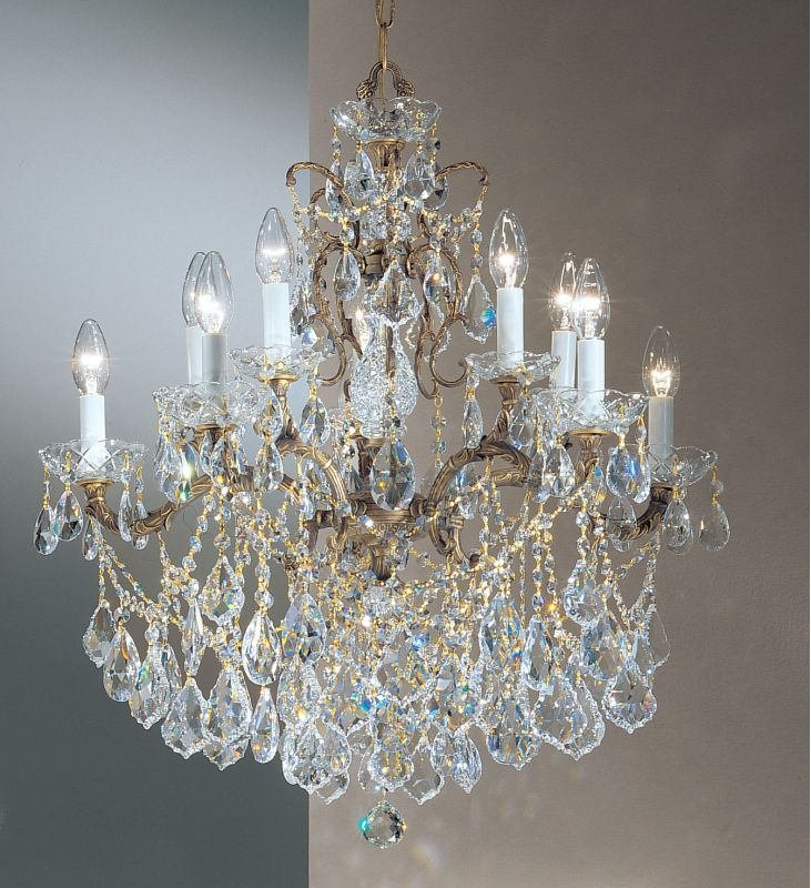 "Classic Lighting 5540-RB 28"" Crystal Cast Brass Chandelier from the"