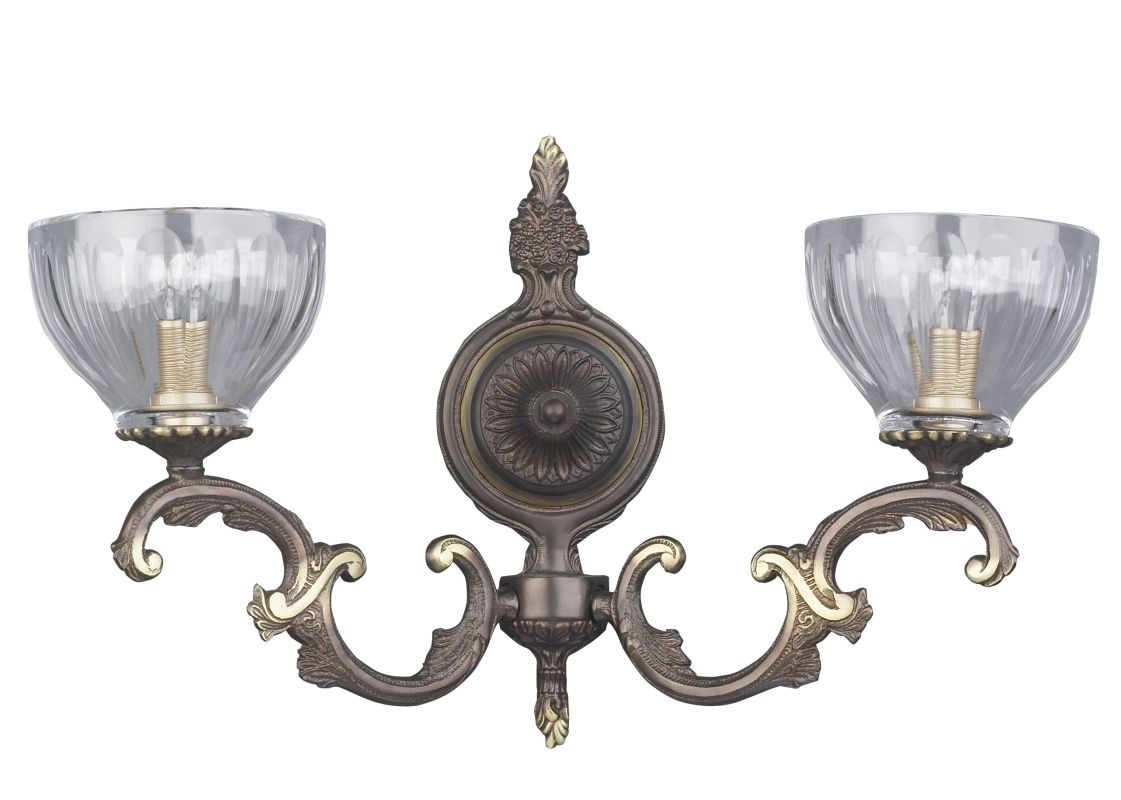 "Classic Lighting 55432 12"" Cast Brass Lead Crystal Sconces from the Sale $450.00 ITEM: bci1302817 ID#:55432 RB UPC: 729587345600 :"