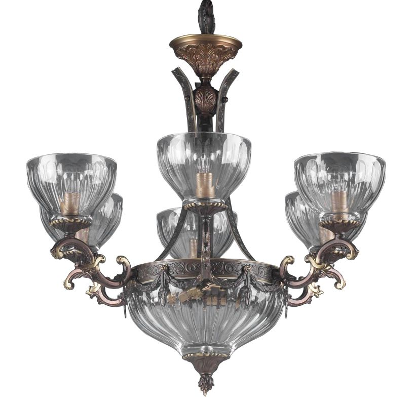 "Classic Lighting 55436 25"" Cast Brass Lead Crystal Chandelier from the"