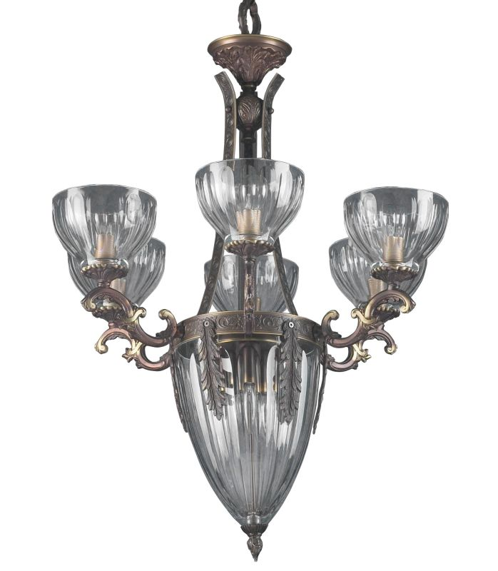 "Classic Lighting 55437 33"" Cast Brass Lead Crystal Chandelier from the"