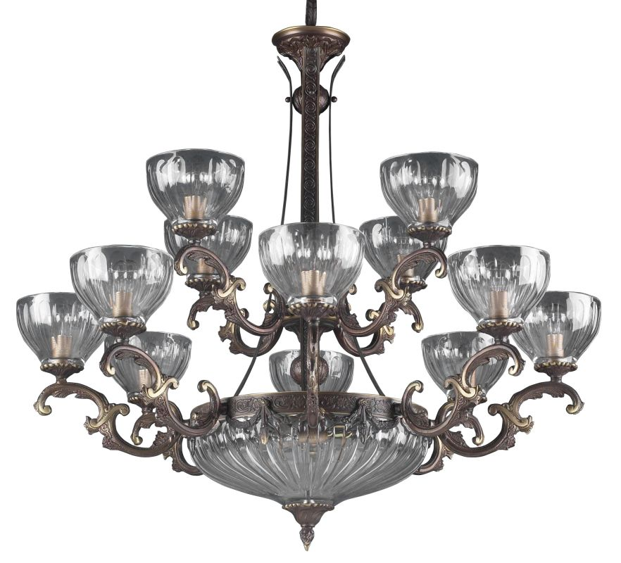 "Classic Lighting 55438 34"" Cast Brass Lead Crystal Chandelier from the"