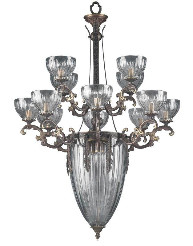 "Classic Lighting 55439 46"" Cast Brass Lead Crystal Chandelier from the"