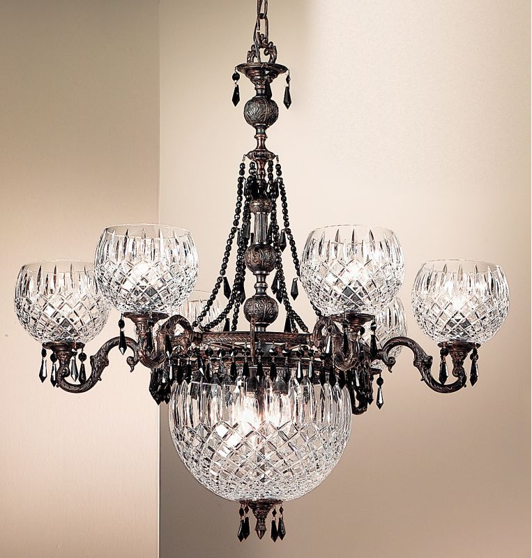 "Classic Lighting 55536-OX 34"" Cast Brass & Lead Crystal Chandelier"