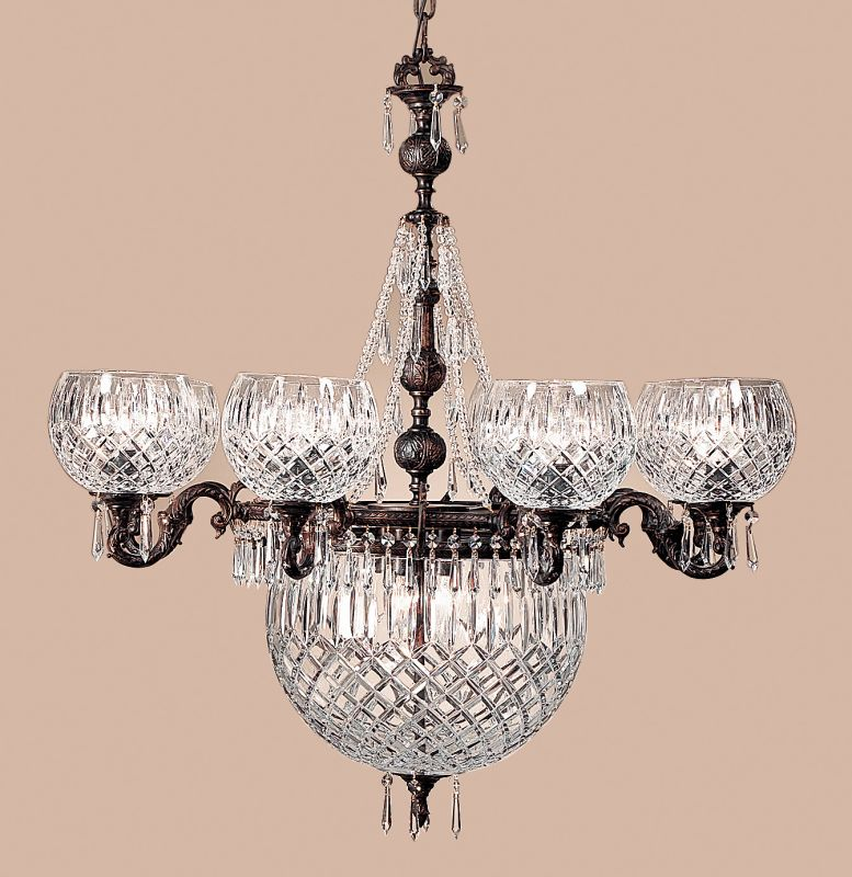 "Classic Lighting 55538-OX 36"" Cast Brass & Lead Crystal Chandelier"