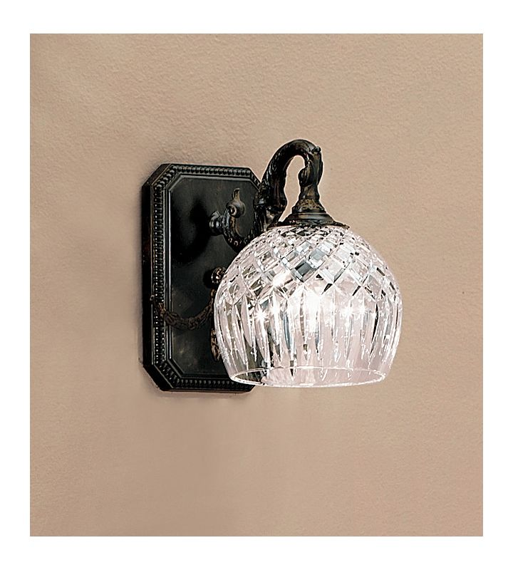 """Classic Lighting 55541 8"""" Cast Brass & Lead Crystal Sconces from the"""