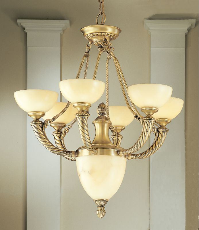 "Classic Lighting 56027 31"" Alabaster Chandelier from the Alhambra"