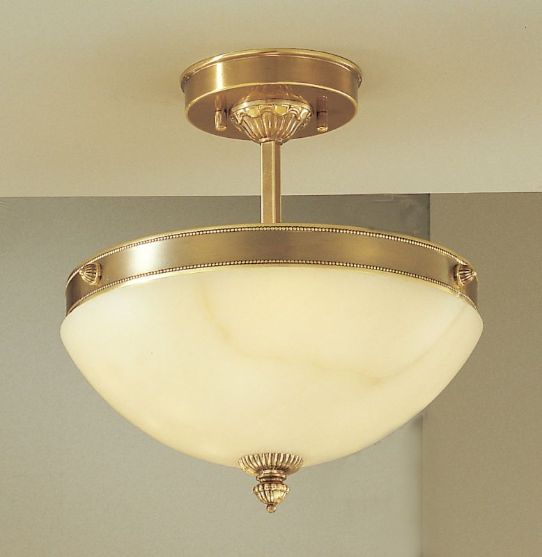 "Classic Lighting 5620 10"" Alabaster Semiflush from the Mallorca"