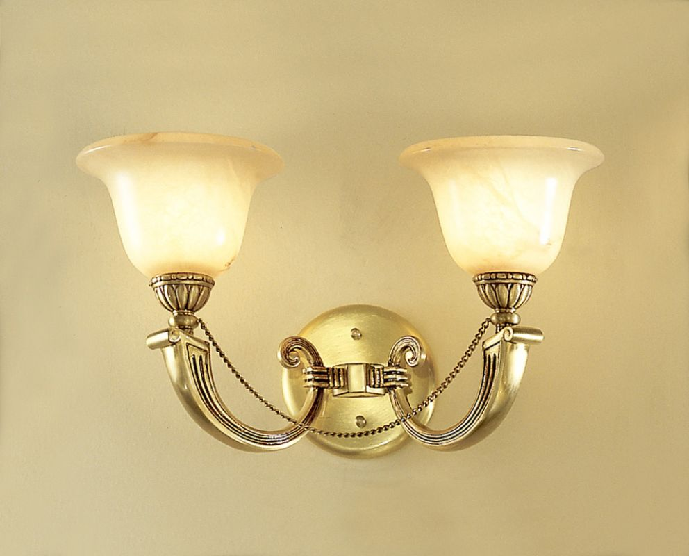 "Classic Lighting 56222 10"" Alabaster Sconces from the Monica"