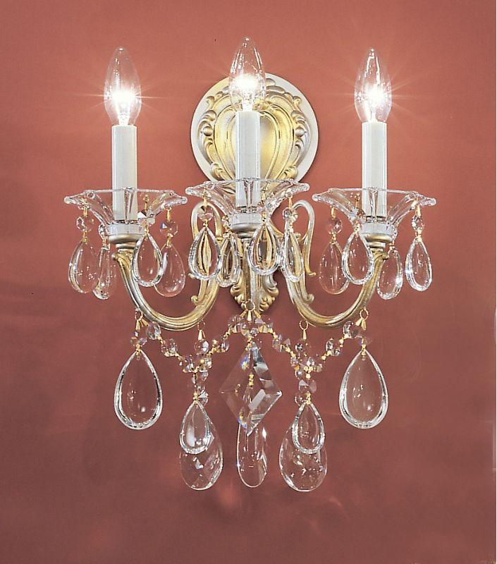 "Classic Lighting 57003-CHP 16"" Crystal Wallchiere from the Via Venteo"