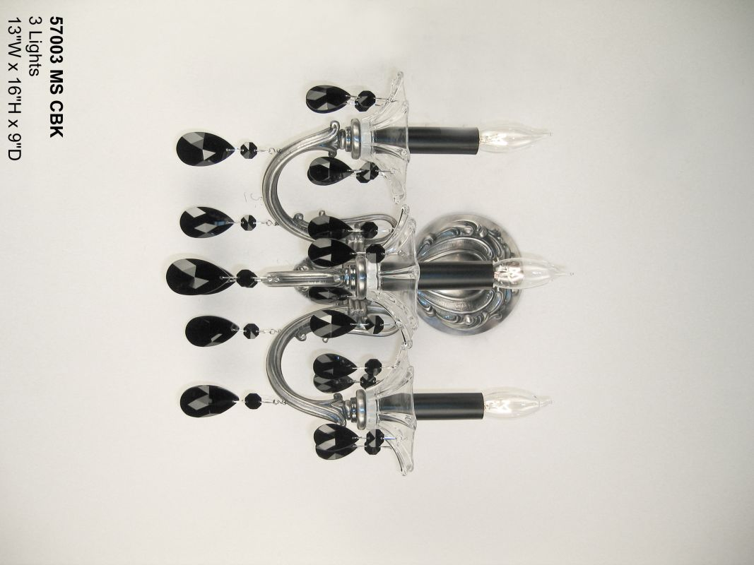 """Classic Lighting 57003-MS 16"""" Crystal Wallchiere from the Via Venteo"""