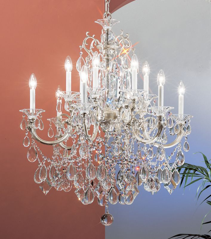 "Classic Lighting 57013-SS 37"" Crystal Chandelier from the Via Venteo"