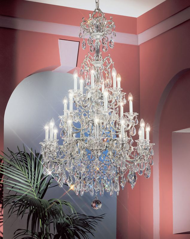 "Classic Lighting 57024-SS 62"" Crystal Chandelier from the Via Venteo"