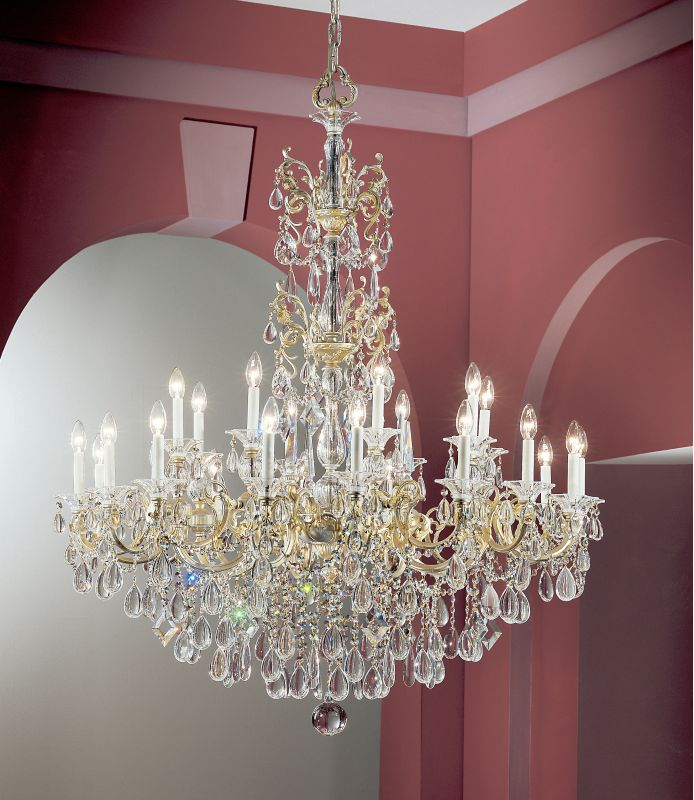 "Classic Lighting 57025-CHP 59"" Crystal Chandelier from the Via Venteo"