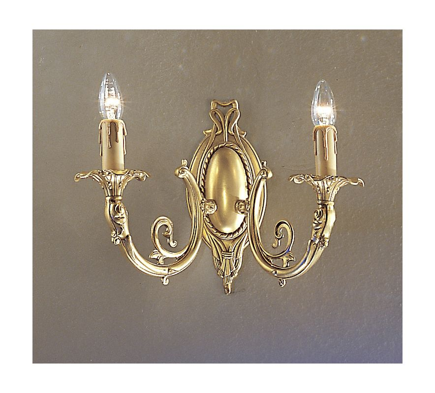 "Classic Lighting 5702-SBB 14"" Crystal Cast Brass Wallchiere from the"