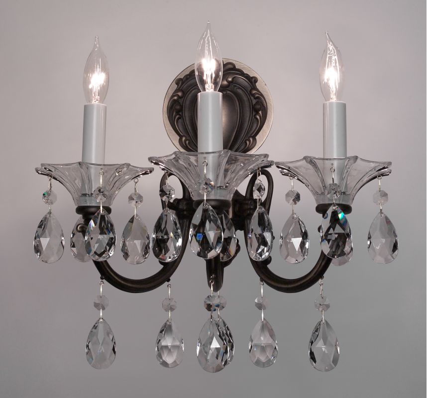 "Classic Lighting 57053-RB 13"" Crystal Wallchiere from the Via Lombardi"