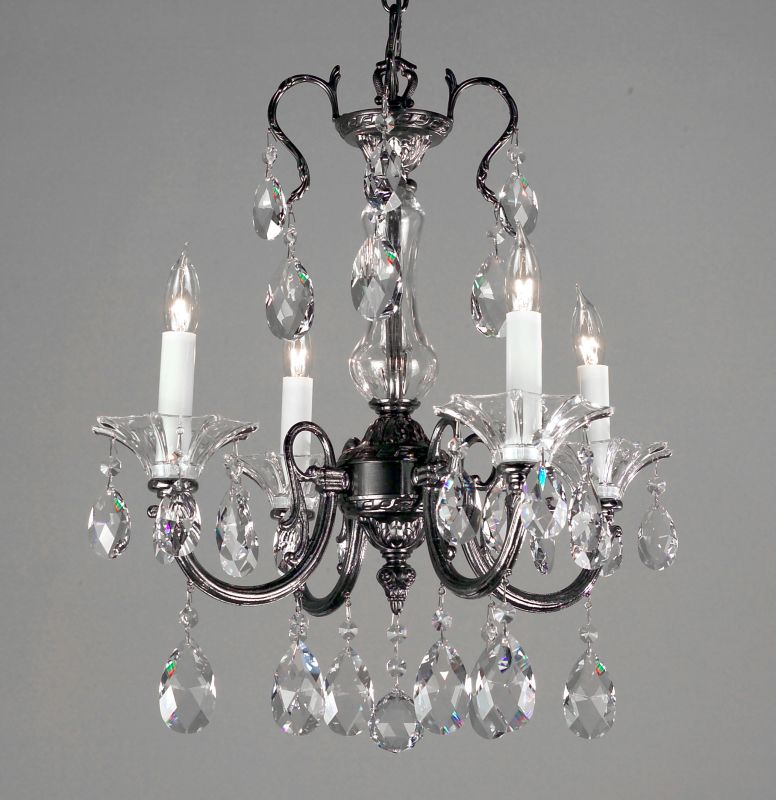 Classic Lighting 57054-EP 19&quote Crystal Mini-Chandelier from the Via