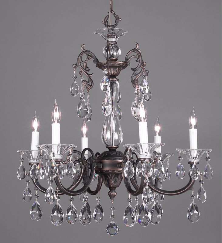 "Classic Lighting 57056-RB 28"" Crystal Chandelier from the Via Lombardi"