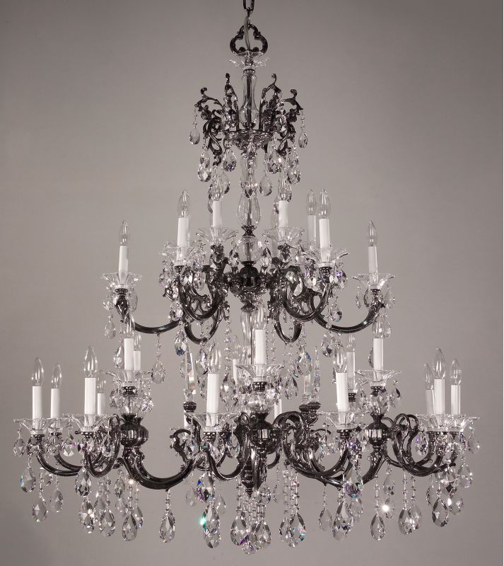 "Classic Lighting 57060-EP 55"" Crystal Chandelier from the Via Lombardi"