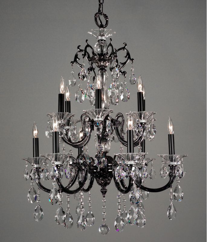 "Classic Lighting 57062-EP 35"" Crystal Chandelier from the Via Lombardi"