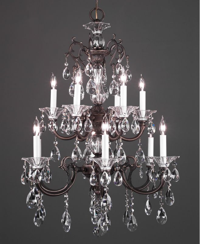 "Classic Lighting 57062-RB 35"" Crystal Chandelier from the Via Lombardi"
