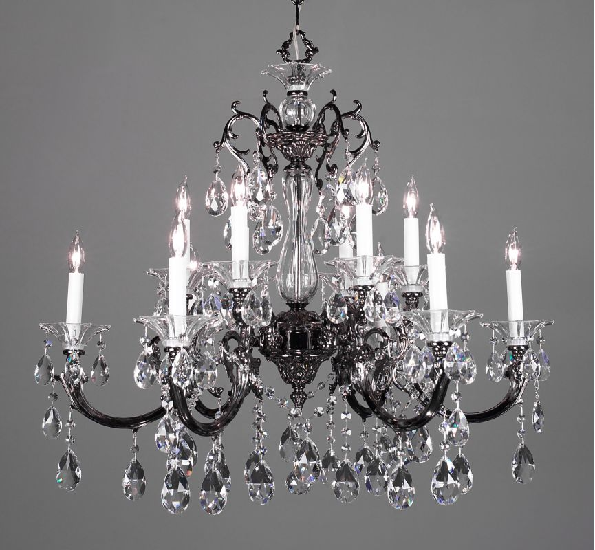 "Classic Lighting 57063-EP 29"" Crystal Chandelier from the Via Lombardi"