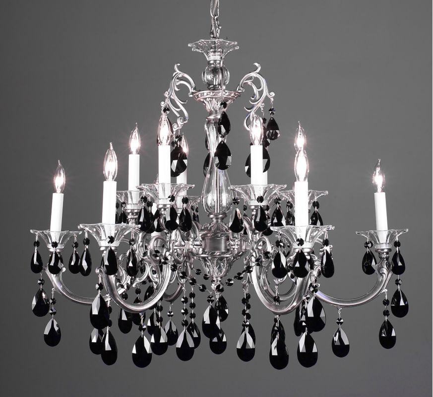 "Classic Lighting 57063-MS 29"" Crystal Chandelier from the Via Lombardi Sale $2970.00 ITEM: bci1305518 ID#:57063 MS CBK :"