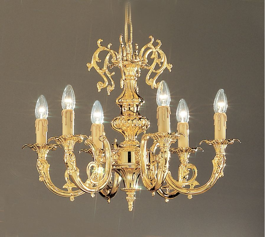 "Classic Lighting 5706-G 18"" Crystal Cast Brass Chandelier from the"