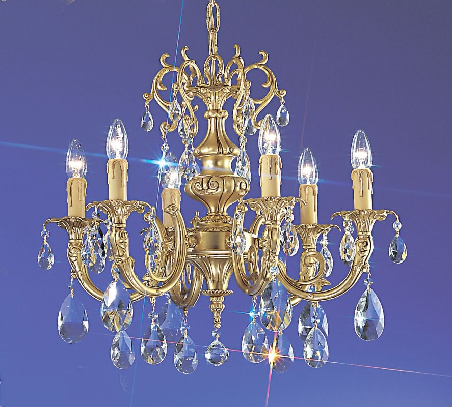 "Classic Lighting 5706-SBB 18"" Crystal Cast Brass Chandelier from the"