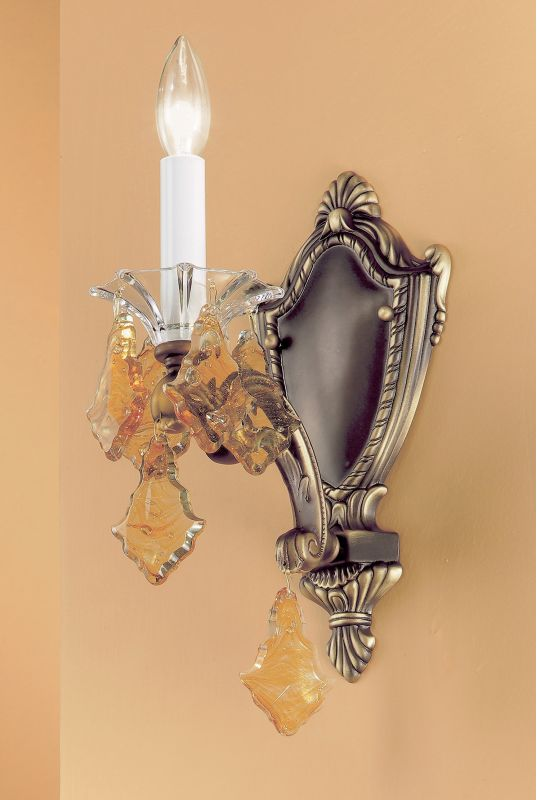 "Classic Lighting 57101-RB 14"" Crystal Wallchiere from the Via Firenze"