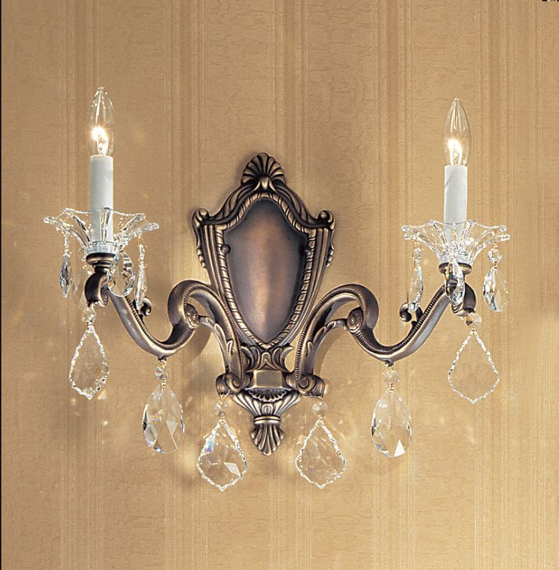"Classic Lighting 57102-RB 14"" Crystal Wallchiere from the Via Firenze"