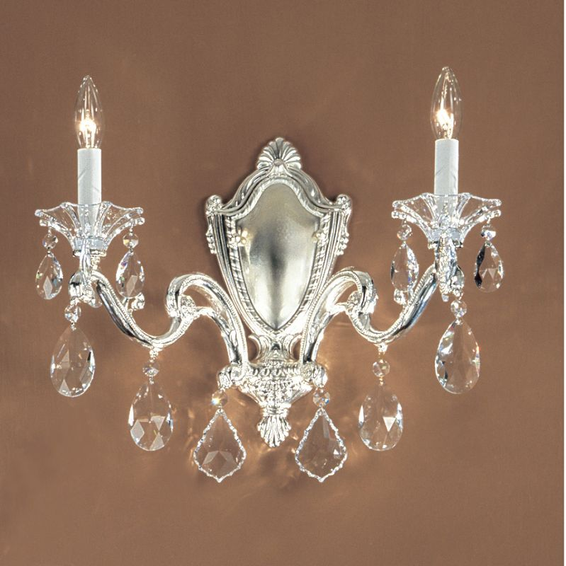 "Classic Lighting 57102-SP 14"" Crystal Wallchiere from the Via Firenze"