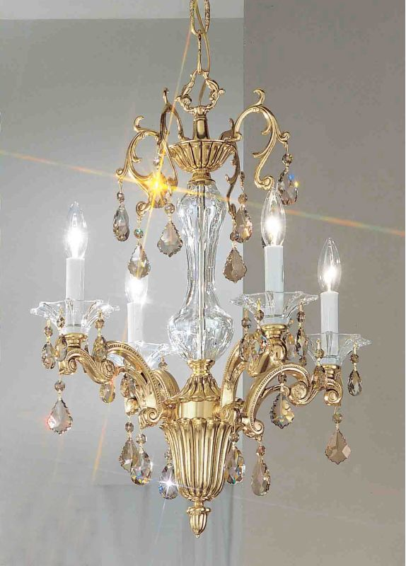"Classic Lighting 57104-BBK 24"" Crystal Mini-Chandelier from the Via"
