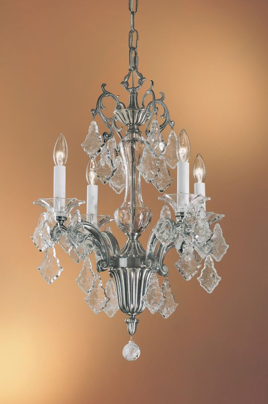 "Classic Lighting 57104-MS 24"" Crystal Mini-Chandelier from the Via"