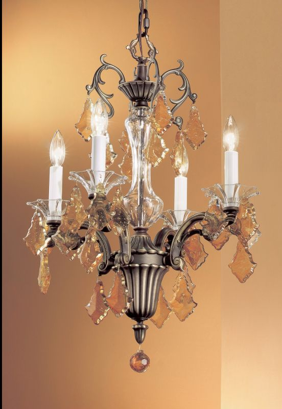 "Classic Lighting 57104-RB 24"" Crystal Mini-Chandelier from the Via"