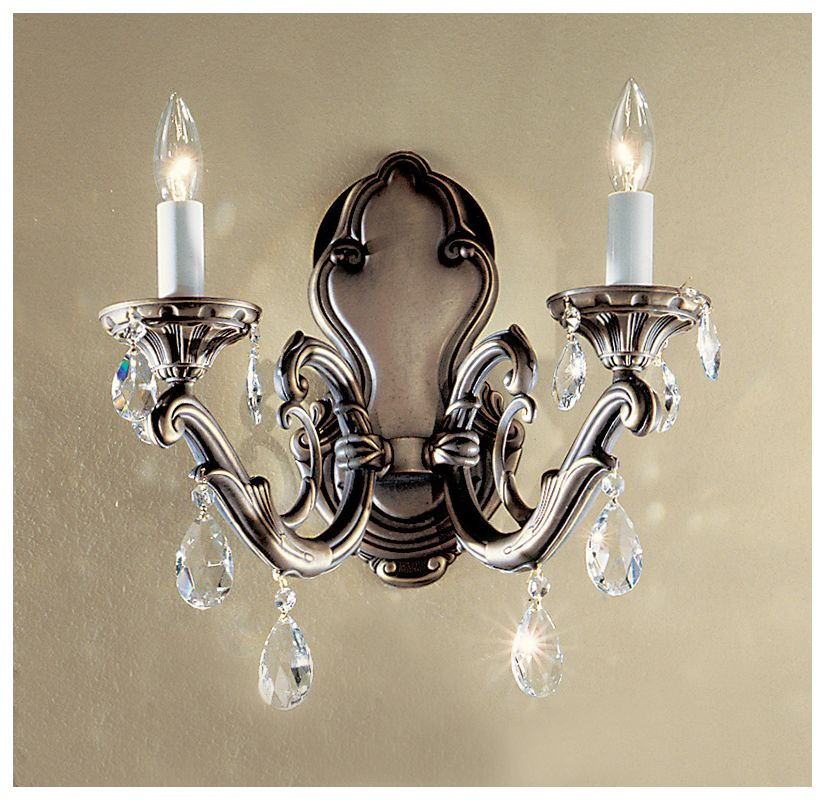 "Classic Lighting 57202-RB 14"" Crystal Wallchiere from the Princeton II"