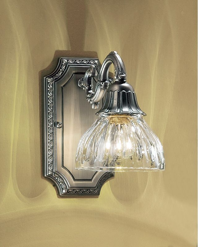 """Classic Lighting 57365 9"""" Cast Brass & Lead Crystal Sconces from the"""