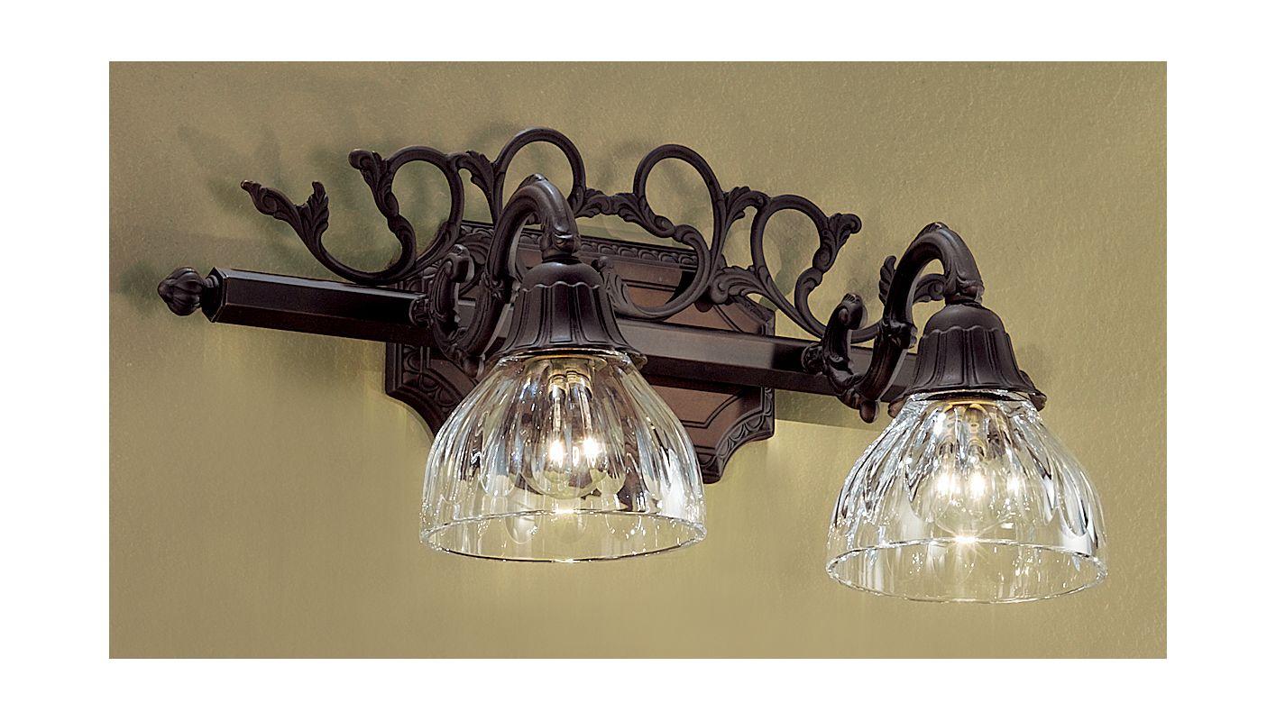 "Classic Lighting 57366 10"" Cast Brass & Lead Crystal 2 Light Vanity"