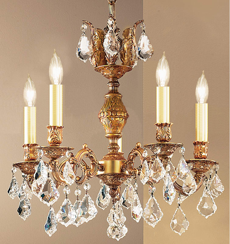 "Classic Lighting 57375-FG 18"" Crystal Chandelier from the Chateau"