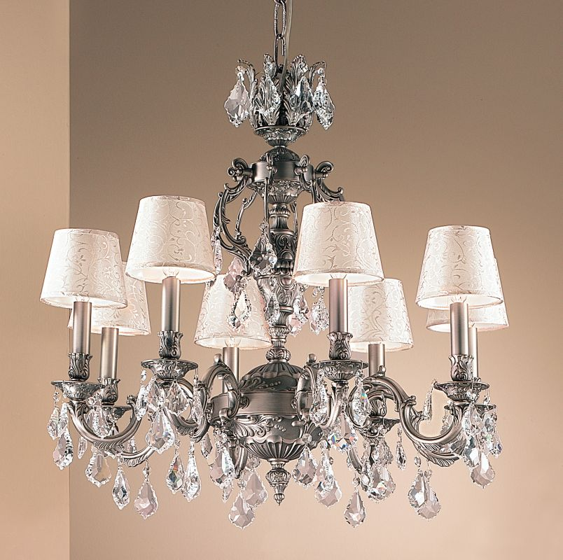 """Classic Lighting 57378-AGP 28"""" Crystal Chandelier from the Chateau"""