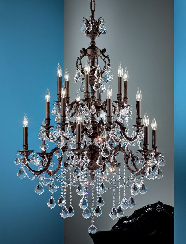 """Classic Lighting 57380-AGB 50"""" Crystal Chandelier from the Chateau"""